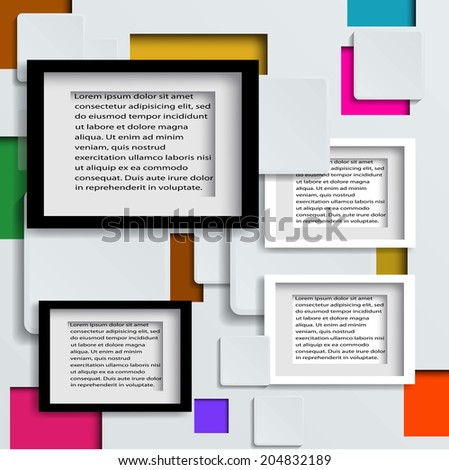 frame on the wall.Vector illustration  - stock vector