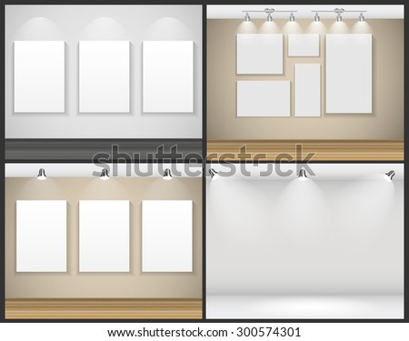 Frame on Wall for Your Text and Images, Vector Illustration EPS10