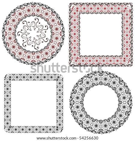 frame patterned - stock vector