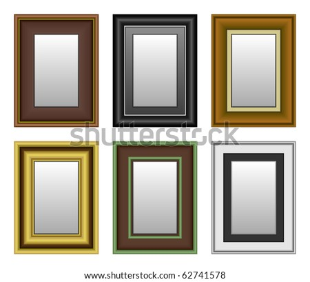 Frame Picture Photo Mirror - stock vector