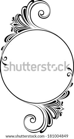 Frame round I - stock vector
