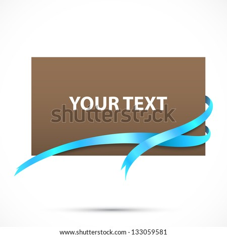 Frame tag. Blank paper - stock vector