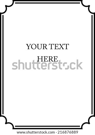 Frame vector - stock vector