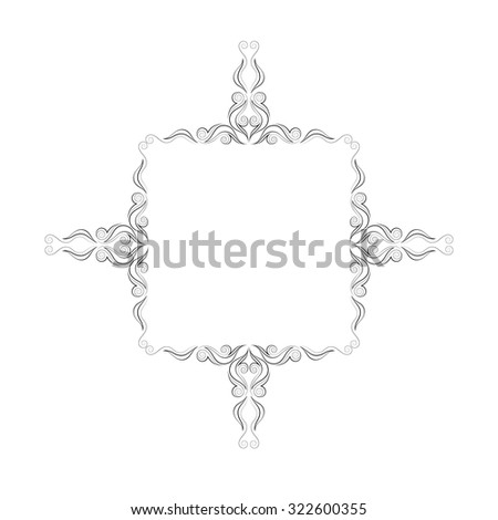 Baroque Rococo Mirror Frame Decor Vector 424889104 on white french living room