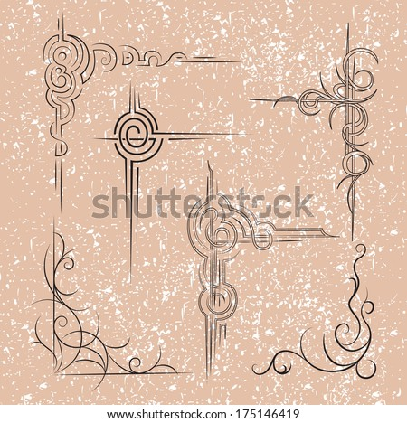 Frame. Vector image. Vintage set of decorative element