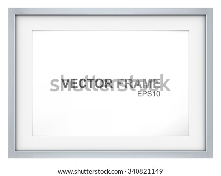 Frame. Vector Picture Frame made of steel. Copy Space. - stock vector