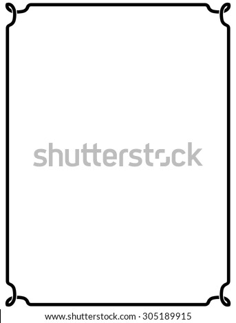 Frame vintage border blackboard vector isolated simple - stock vector