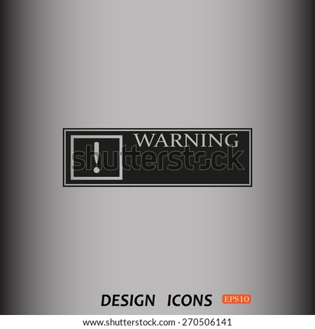 Frame warnings, important information security. icon. vector design