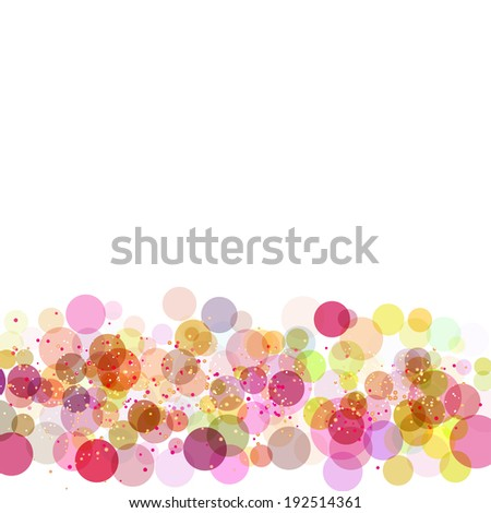 frame with colors circles - stock vector