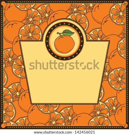 Frame with oranges