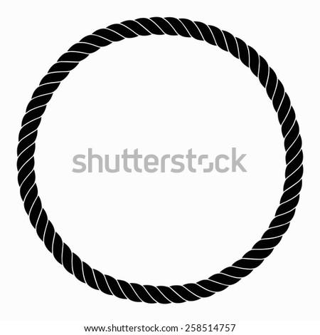 frame rope vector black illustration stock vector 258514757 rh shutterstock com rope vector art rope vector free download