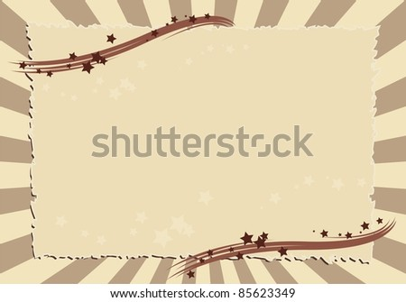 Frame with stars - stock vector