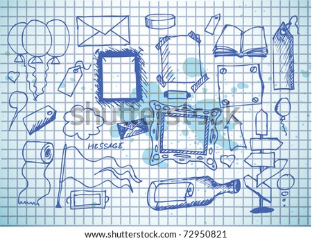 frames and space for messages - stock vector