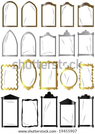 frames for windows, mirrors, pictures or other using - stock vector