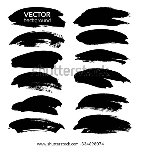 Frames Thick Black Textured Strokes Isolated Stock Vector 334698074
