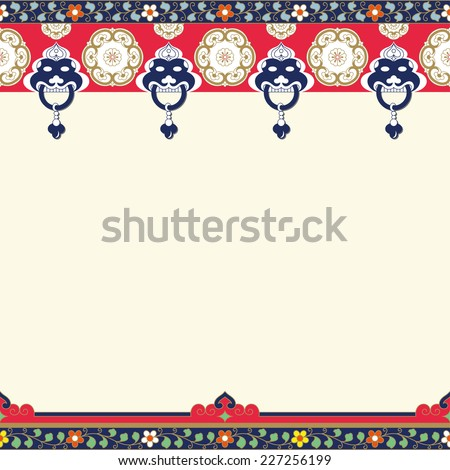 Frames of Chinese Style(Copy space) - stock vector