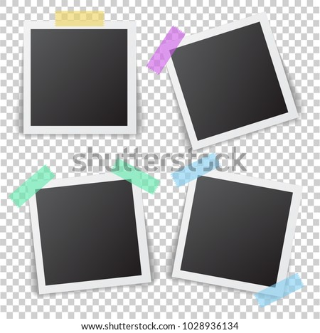 Frames Photo Shadow Pin On Sticky Stock Vector (2018) 1028936134 ...
