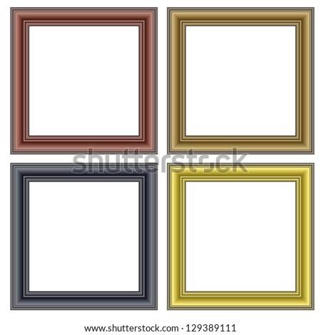 Frames on the wall. Vector illustration. - stock vector