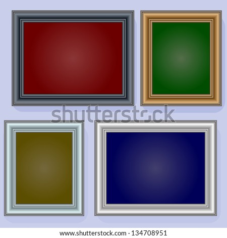 Frames on the wall. Vector illustration. - stock vector