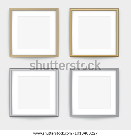 Frames On Wall Gold Silver Frame Stock Vector HD (Royalty Free ...