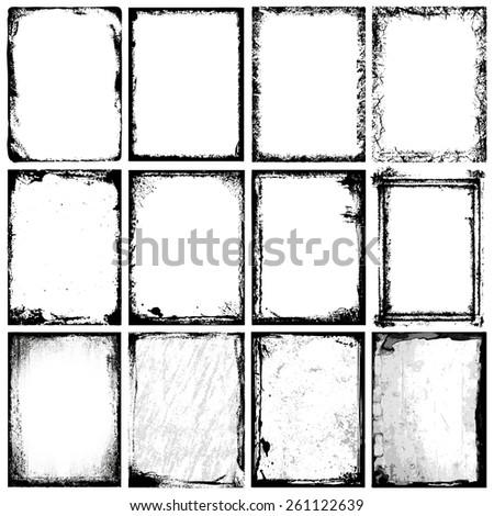 Frames & Textures - stock vector