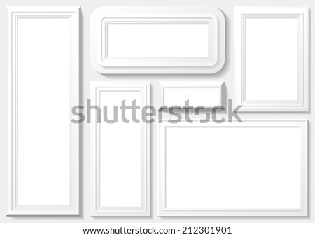 Frames with white planks and background. - stock vector