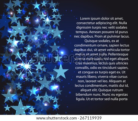framework for your text with blue stars - stock vector