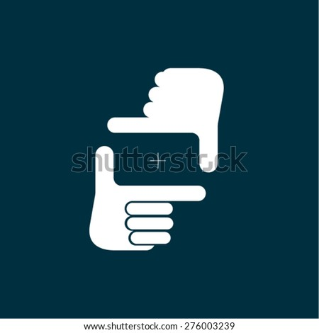 Framing gesture - stock vector