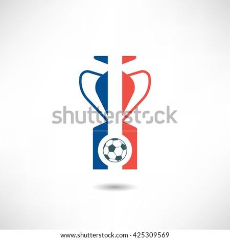 France football championship icon - stock vector