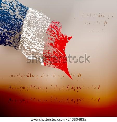 France grunge flag  - stock vector