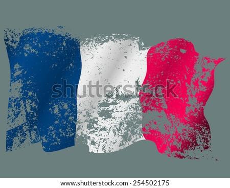 France grunge flag. Eps10 - stock vector