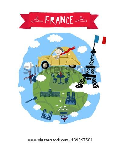 France icon - stock vector