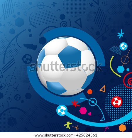 France soccer symbol 2016. Flat Vector Icon. - stock vector