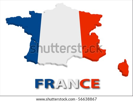 France territory with flag texture. - stock vector