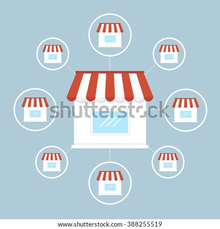Franchise business - stock vector