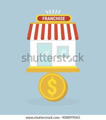 Franchise business icon - stock vector
