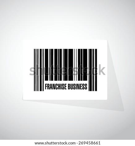 franchise business upc code sign illustration design over white - stock vector