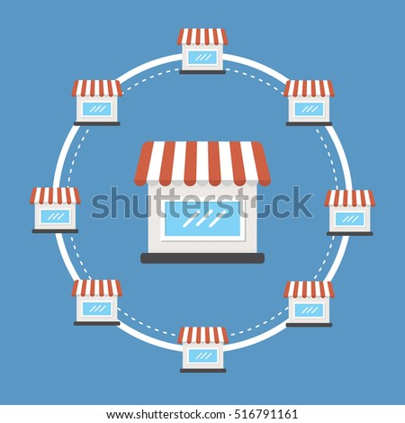 stock vector franchise icon vector 516791161 How To Franchise A Business The Art Of Global Expansion