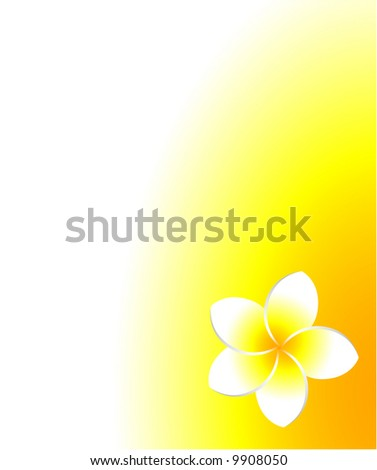 Frangipani summer background with plenty of copy space. - stock vector