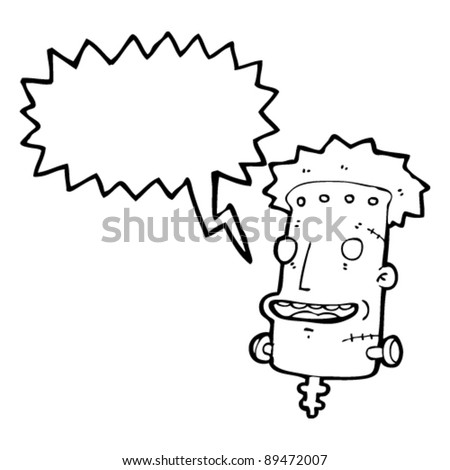 frankenstein's monster cartoon - stock vector