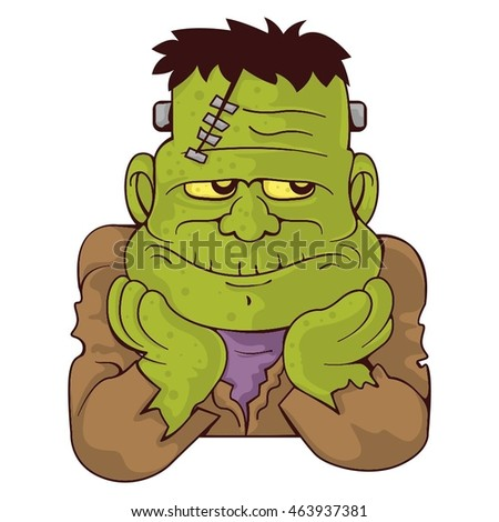 Frankenstein vector illustration with gradients