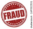 Fraud grunge rubber stamp on white, vector illustration - stock photo