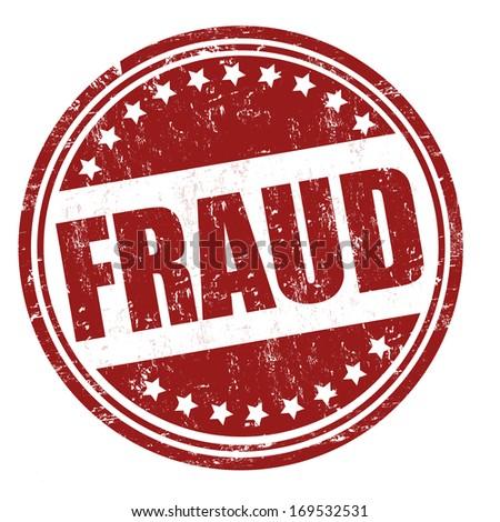 Fraud grunge rubber stamp on white, vector illustration - stock vector