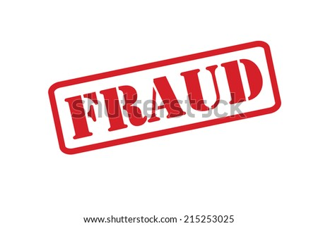 FRAUD Rubber Stamp vector over a white background. - stock vector