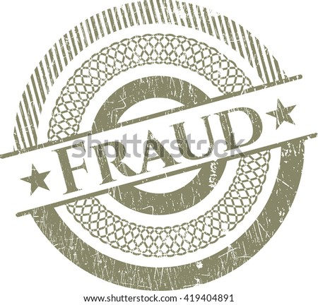 Fraud rubber stamp with grunge texture - stock vector