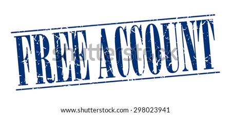 free account blue grunge vintage stamp stock vector 298023941