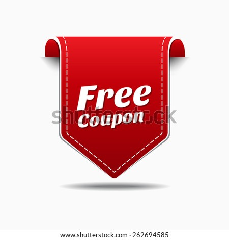 Free Coupon Red Vector Icon Design