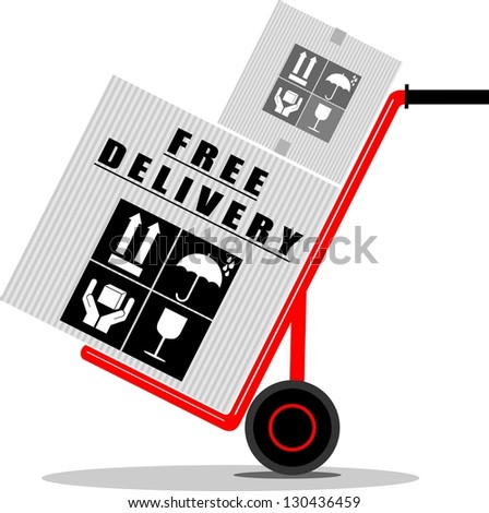 Free Delivery - stock vector