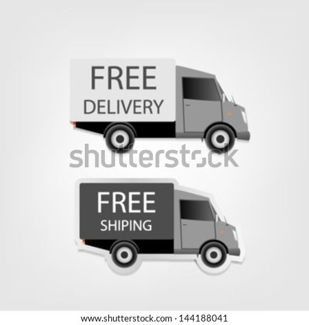 Free delivery and Free shipping - stock vector