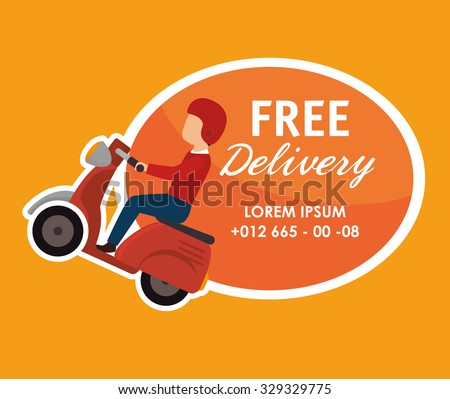 Free delivery and shipping design, vector illustration. - stock vector